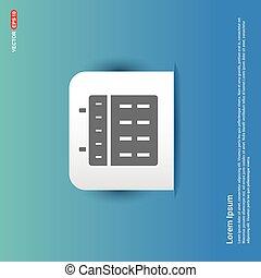 Calendar web icon - Blue Sticker button