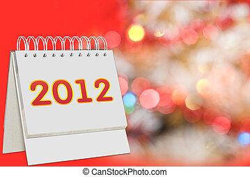 calendar with 2012 sign