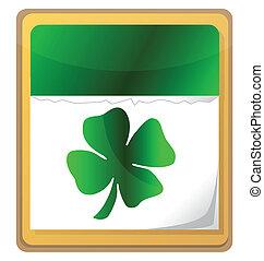 Calendar with clover leaf