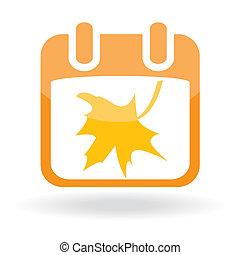 Calendar with maple leaf