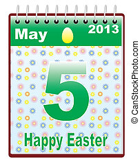 calendar with Orthodox Easter date
