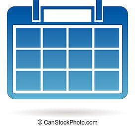 Calendar year agenda for 12 months. Vector graphic design
