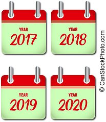 Calendar year icons