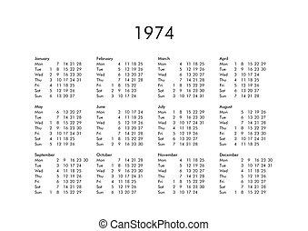 Calendario Anno 1974.Calendario 2019 Anno Tutto Mesi 2019 Anno Civile