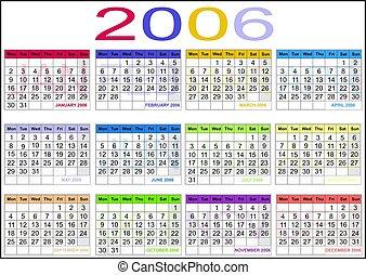 calendario, 2006