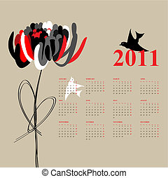 calendario, 2011
