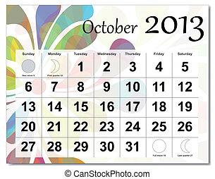 calendario, 2013