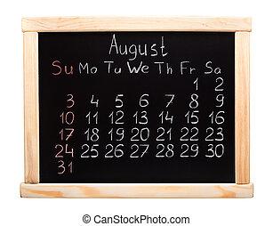 calendario, 2014., agosto