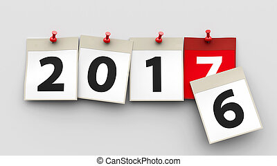 calendario, 2017, fogli