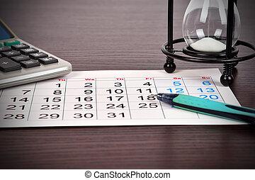 calendario, affari