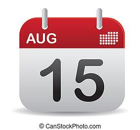 calendario, alzati, agosto