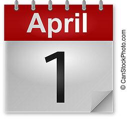 calendario, aprile
