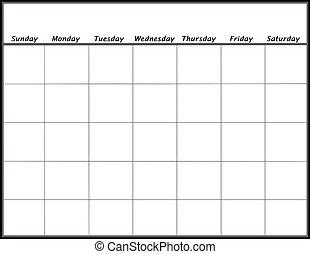 Calendario En Blanco.Calendario Marzo Blanco Mes Calendario March Pagina Blanco