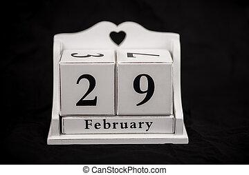 calendario, cubos, febrero, twenty-eighth, 28, 28th
