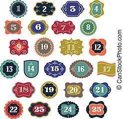 calendario de advenimiento, -, etiquetas, etiquetas