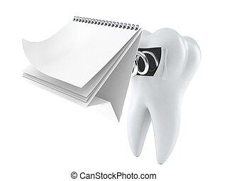 calendario, dente