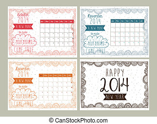 calendario, diseño