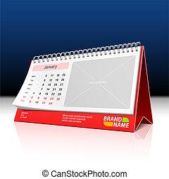 calendario, escritorio