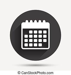 Simbolo De Calendario.Simbolo Calendario Evento Simbolo Illustrazione Vettore