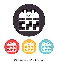 calendario, icono