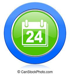 calendario, icono, organizador, señal, agenda, símbolo