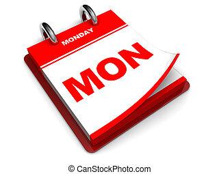 calendario, lunedì