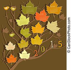calendario, per, 2015