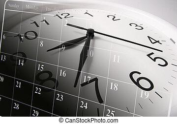 calendario, reloj
