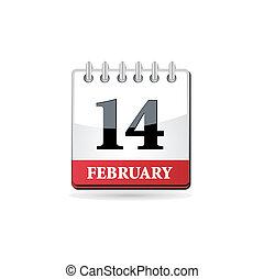 calendario, rosso