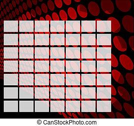 calendario, sfondo griglia, vuoto