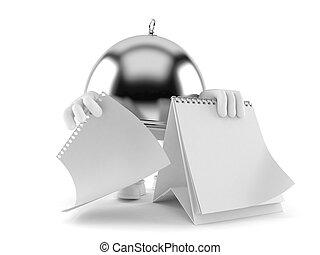 calendario, vuoto, cupola, argento, ristorazione