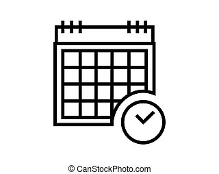 calender board symbol with clock illustration vector