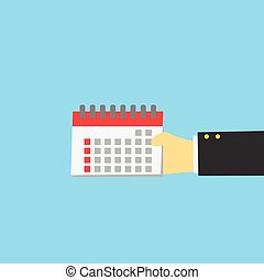 Calender in hand ,vector icon