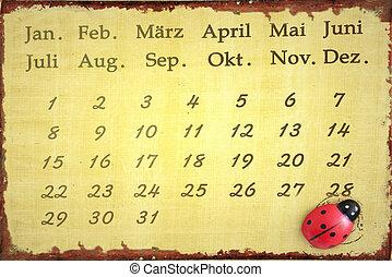 calender - Ladybug calendar for  years