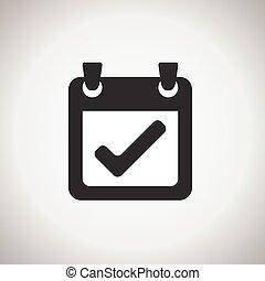 calender symbol. sign, icon grayscale design element