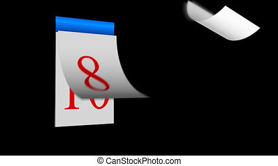 Calender with pages in motion - HD animated Calender with...