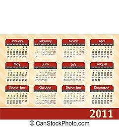 calendrier, 2011
