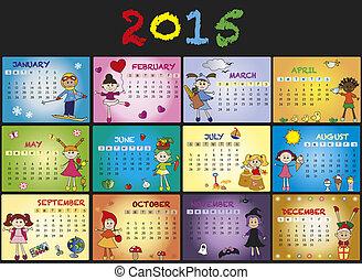 calendrier, 2015