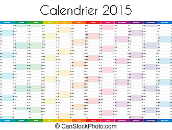 Calendrier 2015 - VERSION FRANCAISE