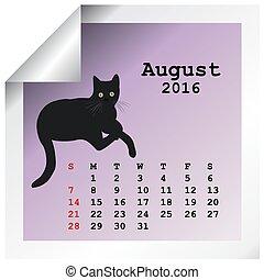 calendrier, 2016, août