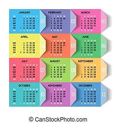 calendrier, 2016