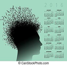 calendrier, 2016, musique