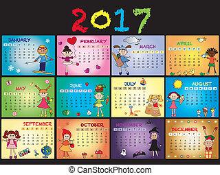 calendrier, 2017