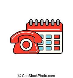 calendrier, achats, téléphone, logistique, ligne