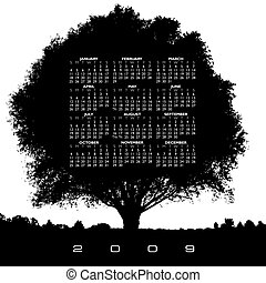 calendrier, arbre