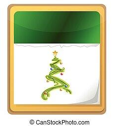 calendrier, arbre, noël