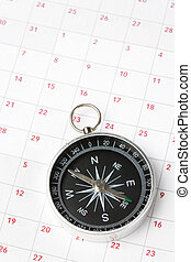 calendrier, compas