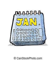 calendrier, dessin animé