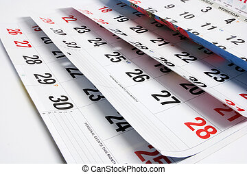 calendrier, pages