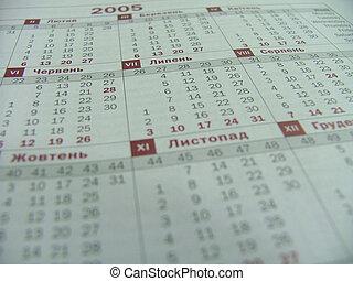 calendrier, ukrainien